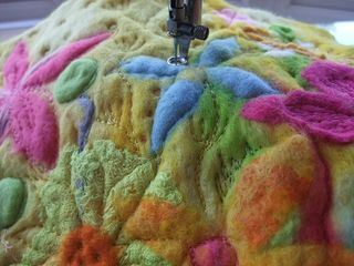 Stitching Work In Progress - Felt Flowers