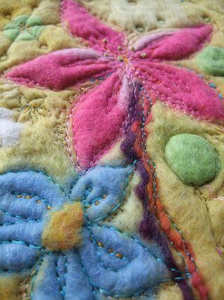 Felt Stitched Flowers