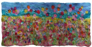 Wet Felting and Stitch - Meadow