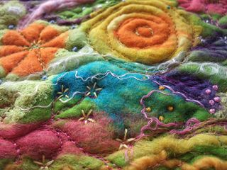 Detail Stitched Felt Flowers