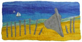 Beached Boat Picture Wet Felt Making