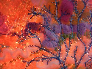 Felt and Light Experiment In Stitched Tree