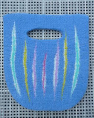 Blue bag on drying rack tutorial