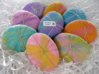 How to make felted soaps