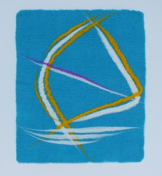 Abstract representation windsurfer