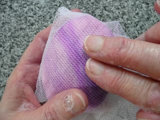 How to make felted soaps 13