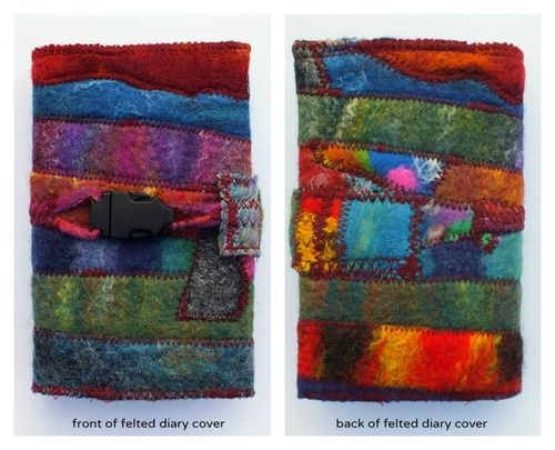 Zed's felt covered diary with text