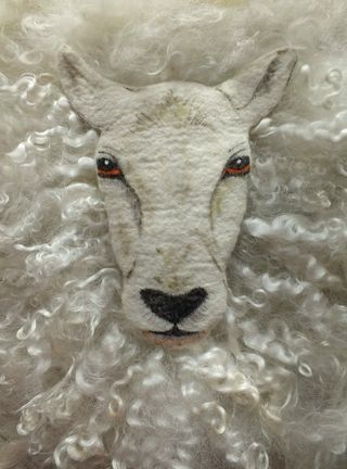 Sheep needle and wet felted