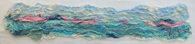 Textured felted seascape