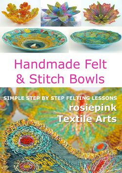 Handmade Felt and Stitch Bowls