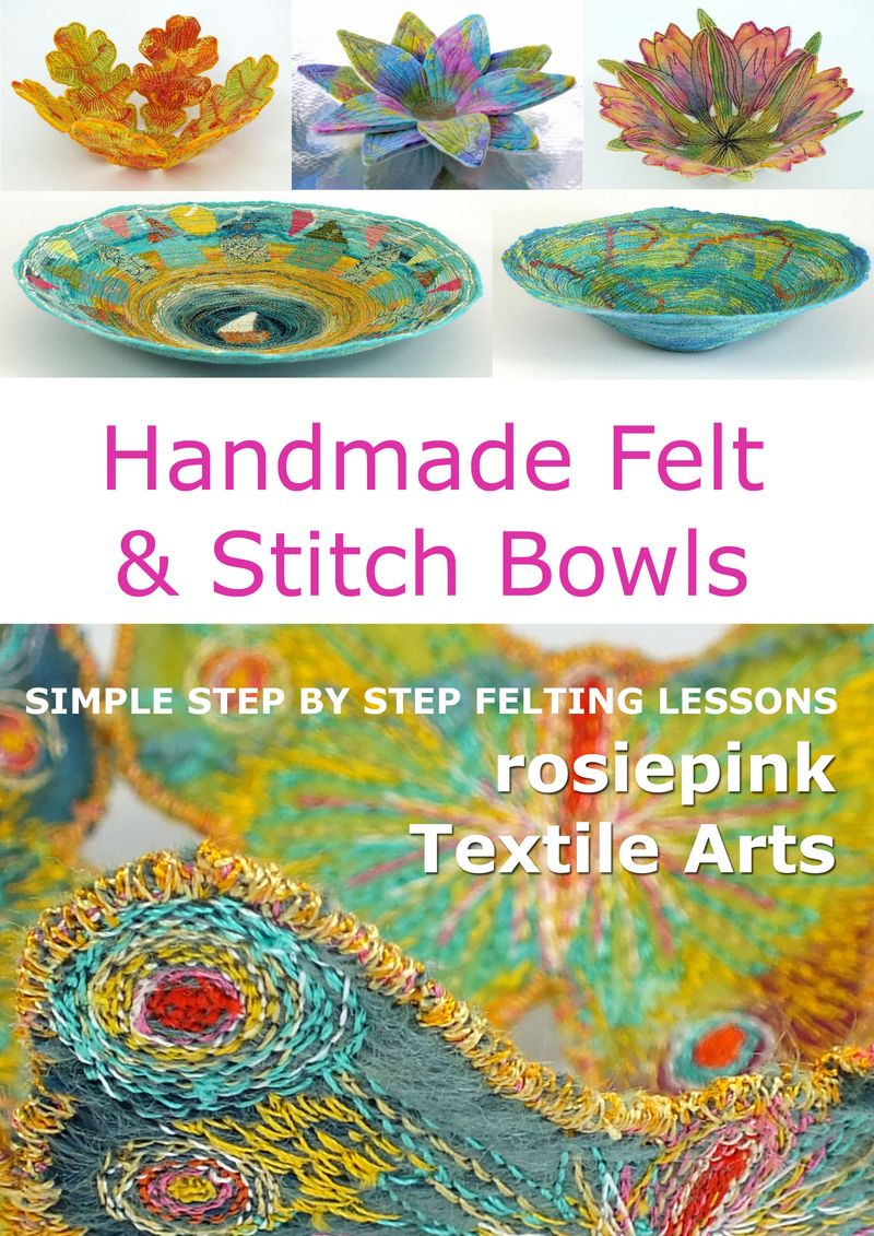 Handmade Felt and Stitch Bowls