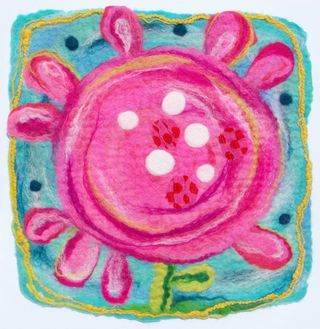 Big_Pink_Wet_Felted_Flower