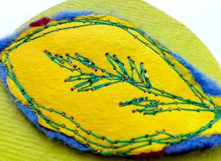 Acrylic_paint_stitched_leaf