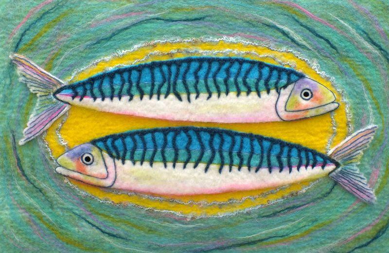 Fish - framed size