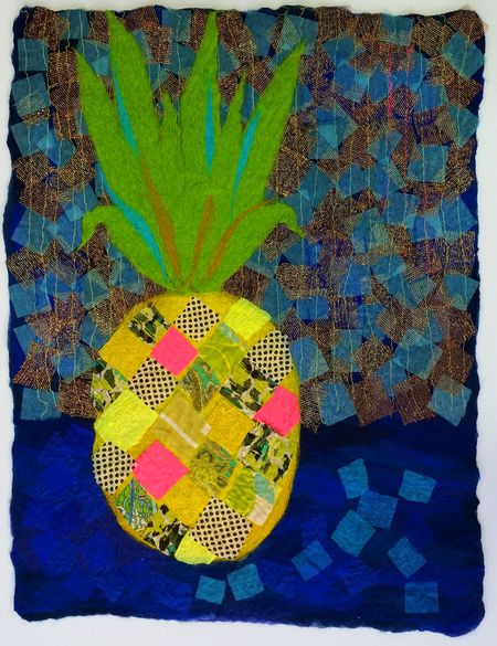 Pineapple_Wet_Felted