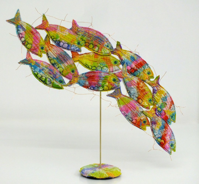Felt fish sculpture