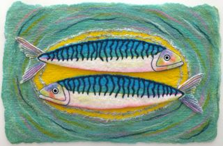 Felted fish  - small image