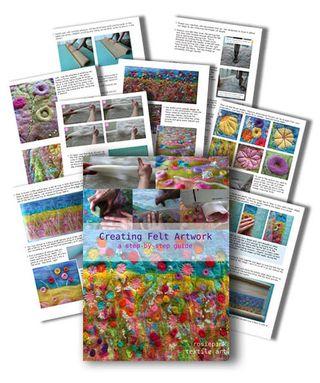 Creating Felt Artwork Sample Pages