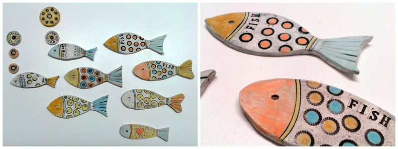 Annie's ceramic fish - small image
