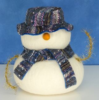 Snowman full of chocolates