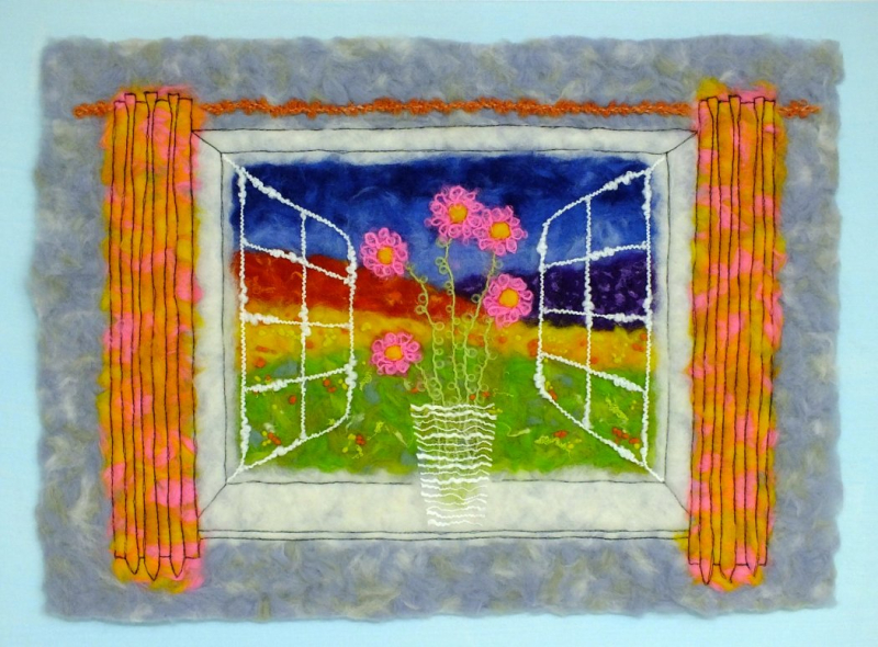 Fauvist style 'view from a window' - small image