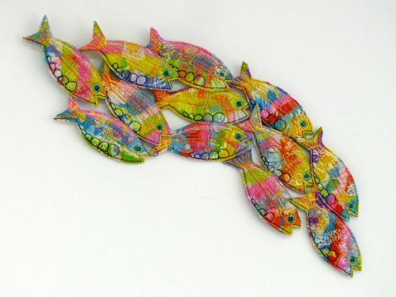 Felt fish wall panel