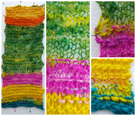 Knitted Overspun Yarn