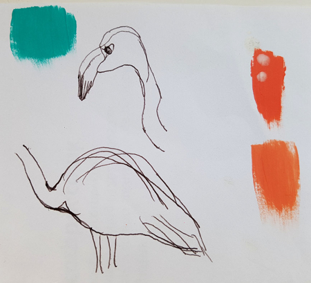 Flamingo_Sketch