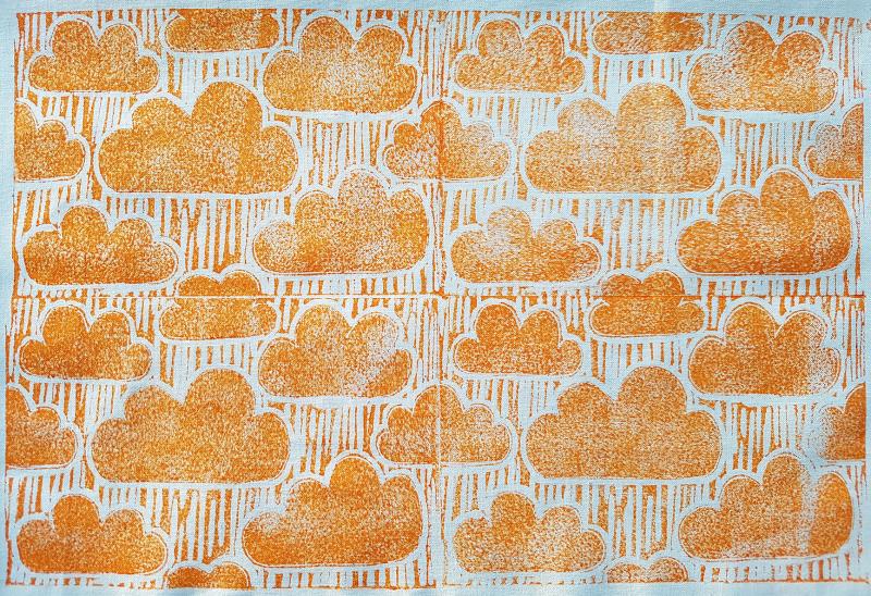 Lino_Print_Clouds