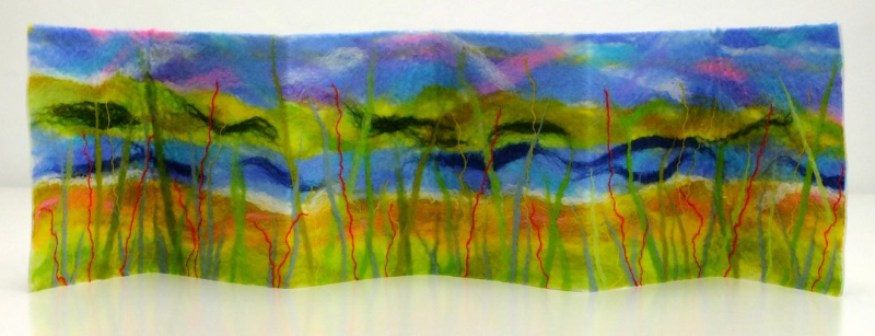 Free standing felted art