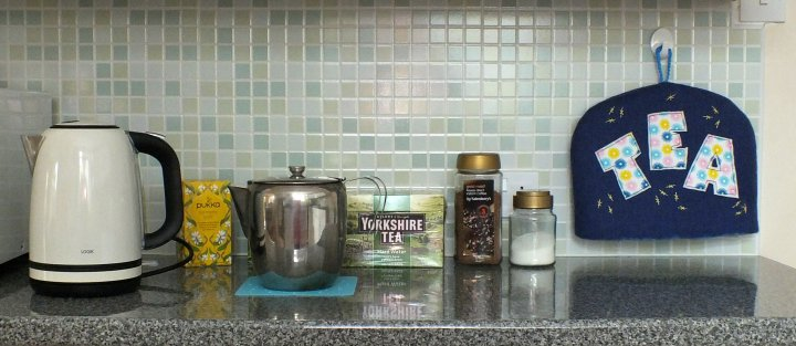 Tea cosy in kitchen
