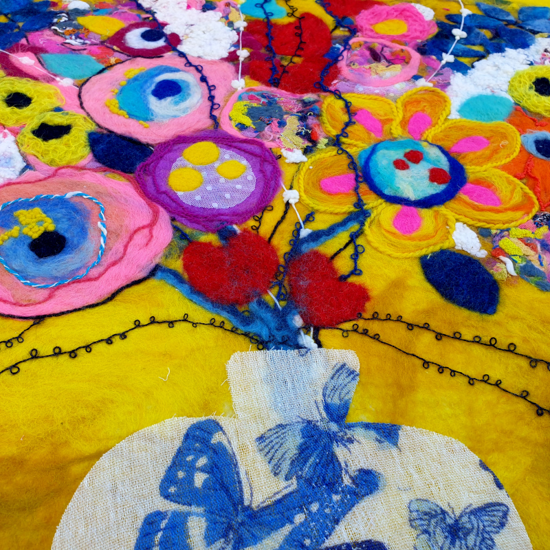 Angle_View_Of_Felted_Flowers