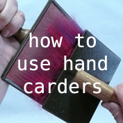 how to use hand carders - free tutorial