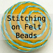how to do simple embroidery on felt beads