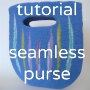 how to make a seamless felt bag purse