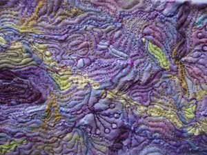 Stitch Detail on Felt